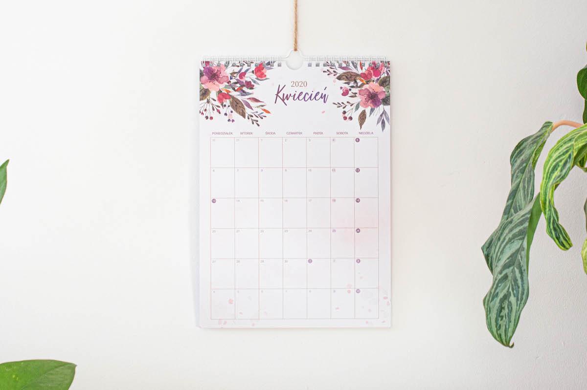 """kalnedarz scienny2020 akwareloweKwiaty2 - Kalendarz ścienny 2020 """"Akwarelowe kwiaty"""""""