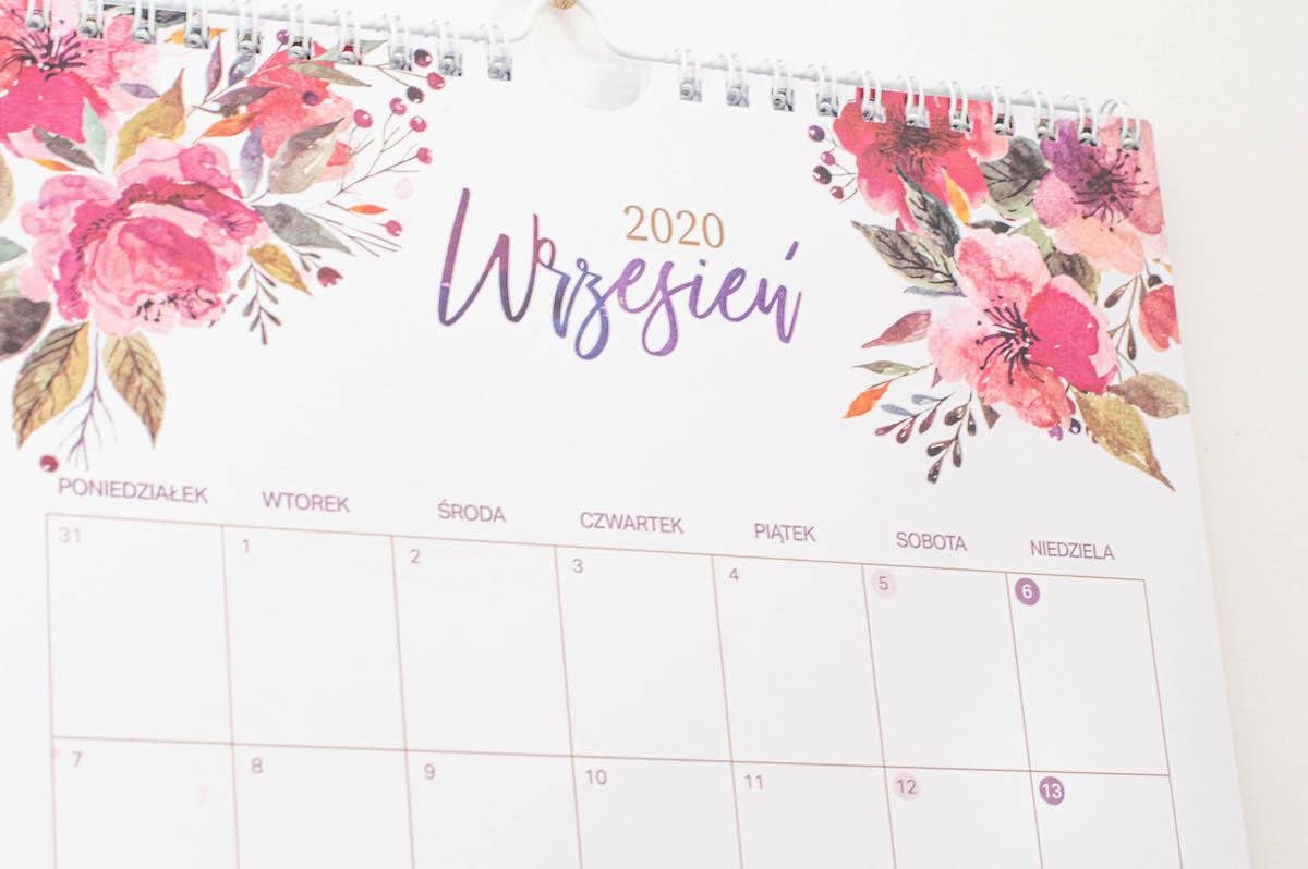 """kalnedarz scienny2020 akwareloweKwiaty3 - Kalendarz ścienny 2020 """"Akwarelowe kwiaty"""""""