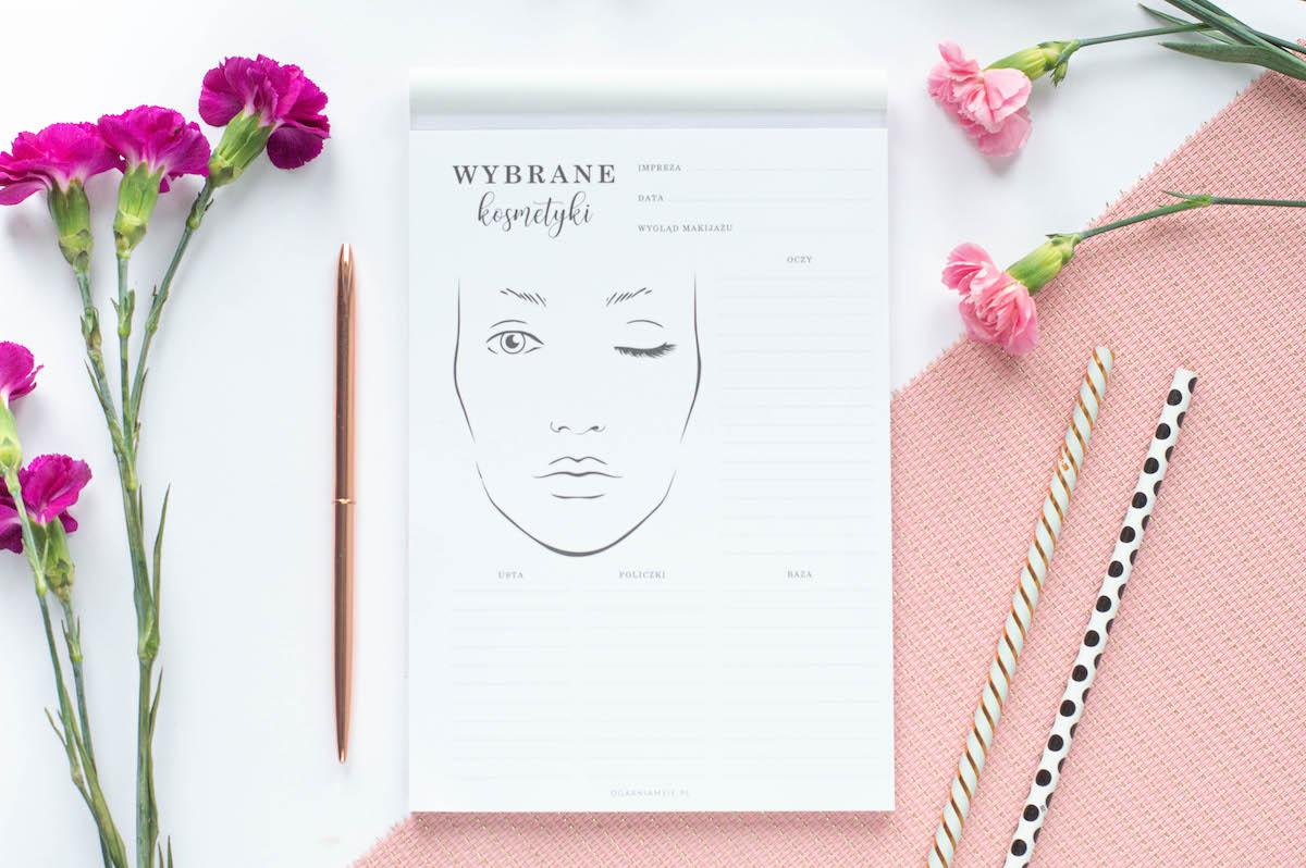 planer male uslug notes kosmetyki - Przegląd makijaży - notes dla kosmetyczki