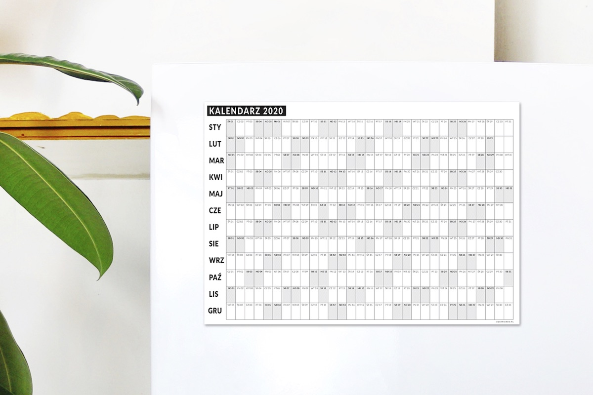 magnes kalendarz2020 - Kalendarz 2020 | Planer magnetyczny na lodówkę
