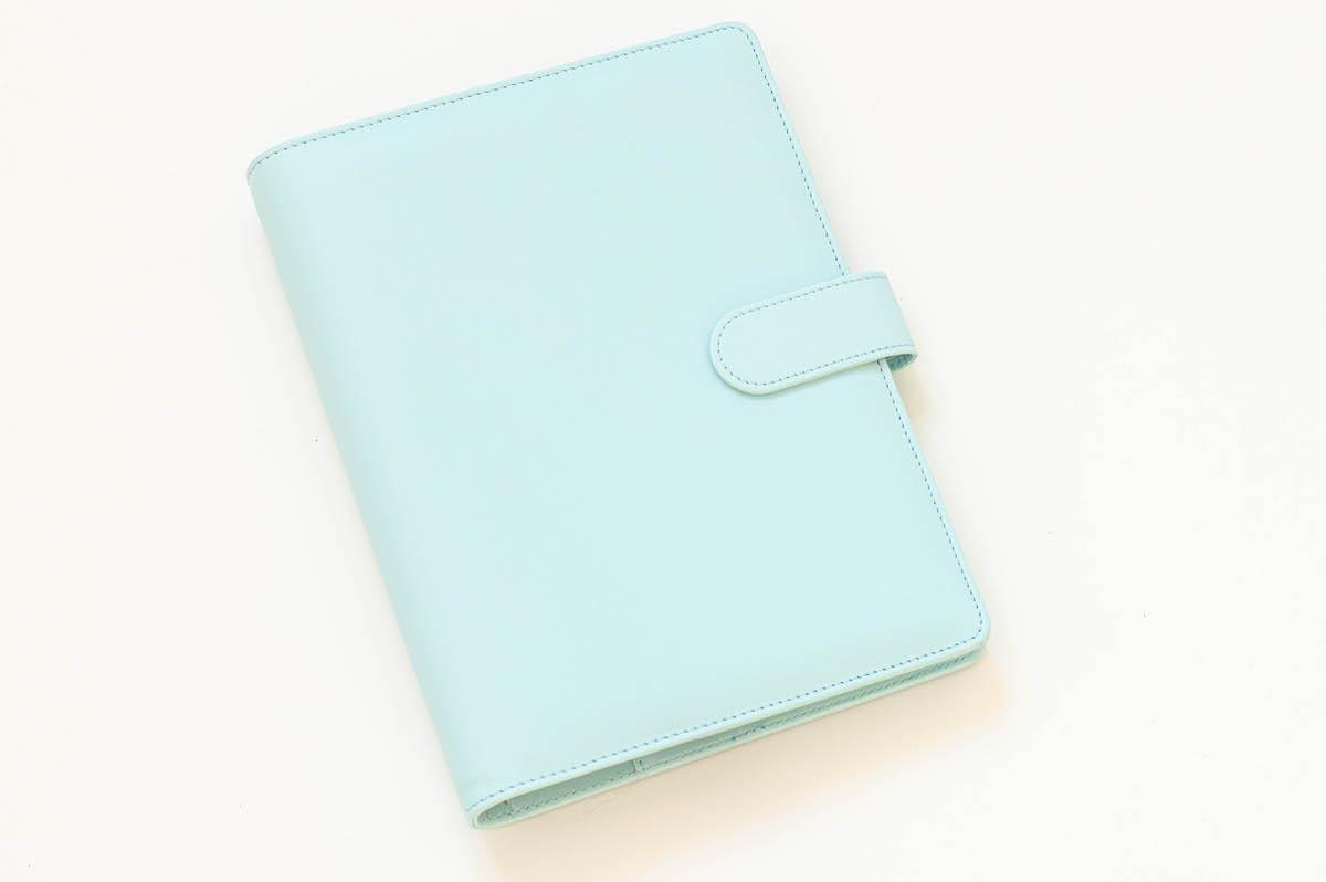 Okładka na organizer, niebieska