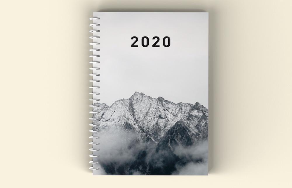 Planer 2020, okładka góry - mockup