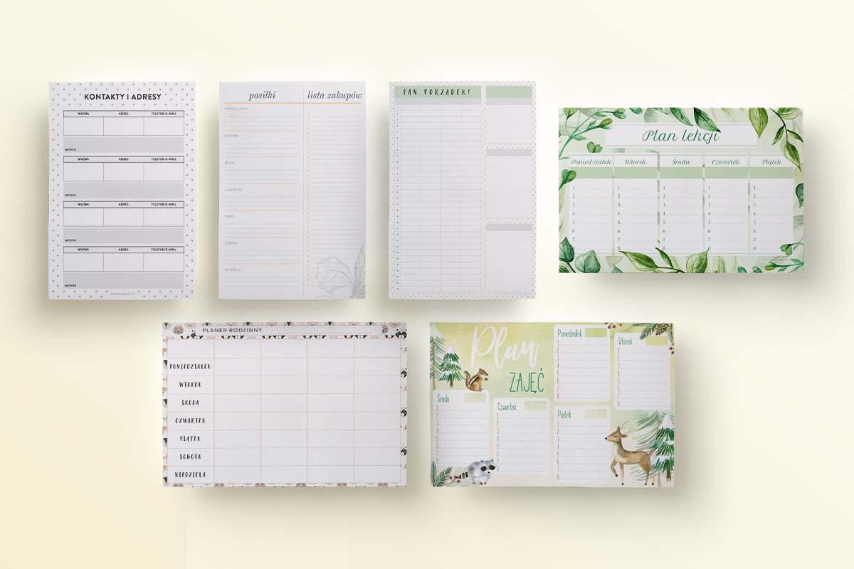 Zestaw planerów dla rodziny, szablony - mockup