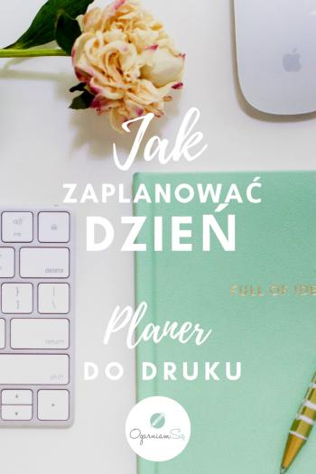 Jak zaplanować dzień - blog post banner