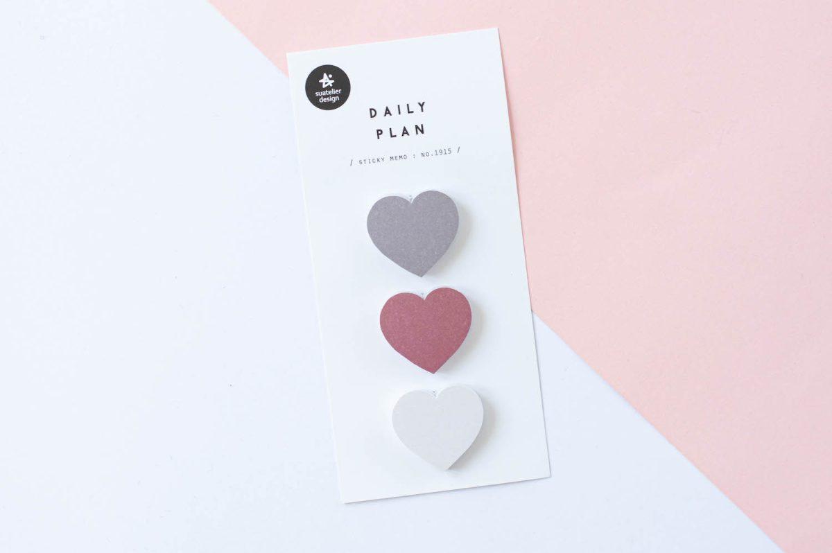 naklejki suatelier karteczki serca 3