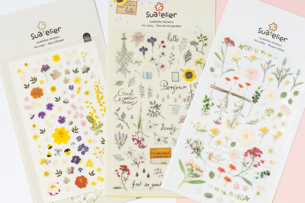 naklejki suatelier kwiatowe różne