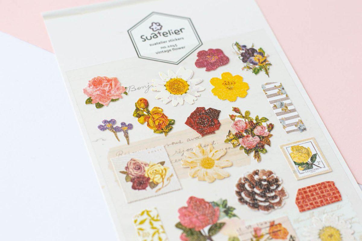 naklejki suatelier kwiaty vintage 1