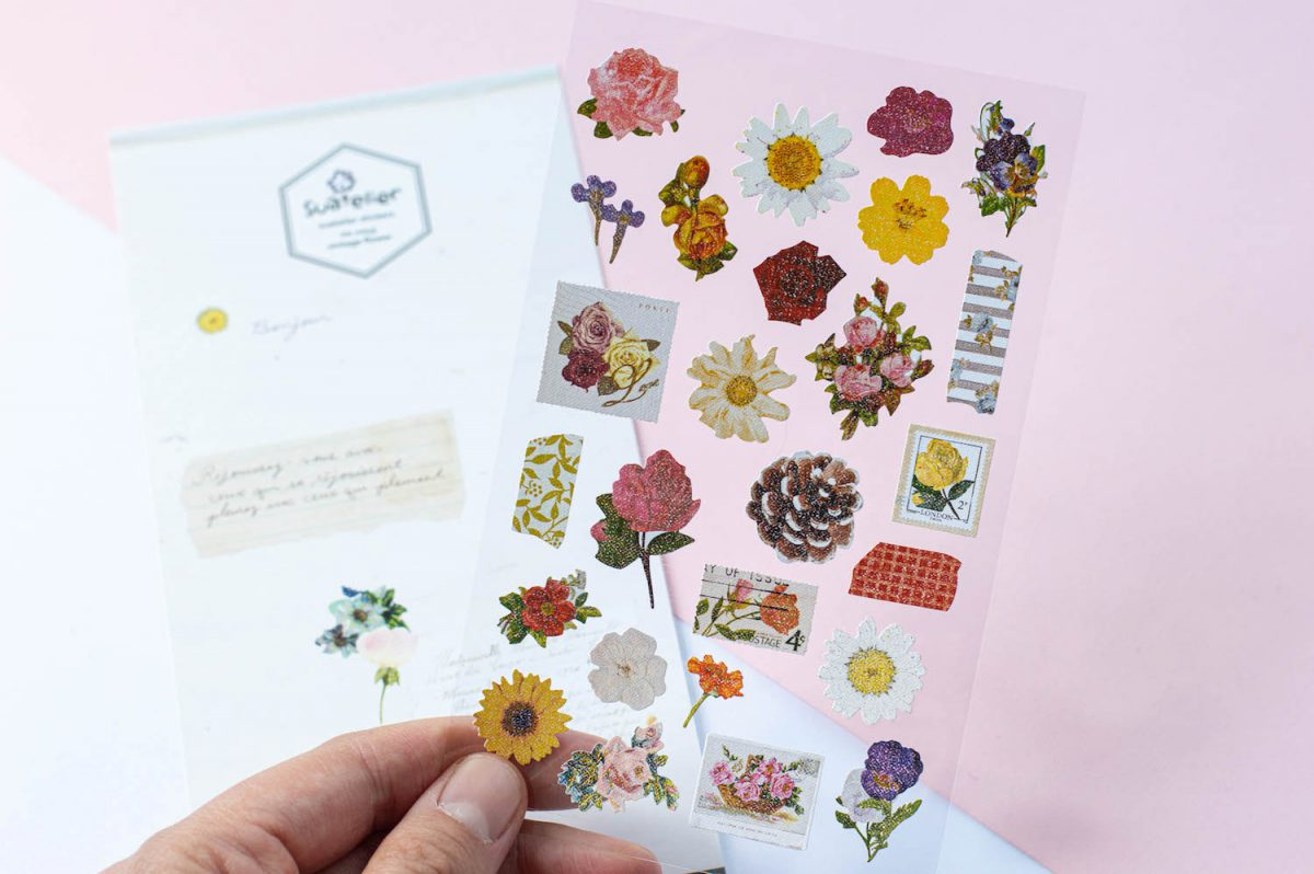 naklejki suatelier kwiaty vintage 2