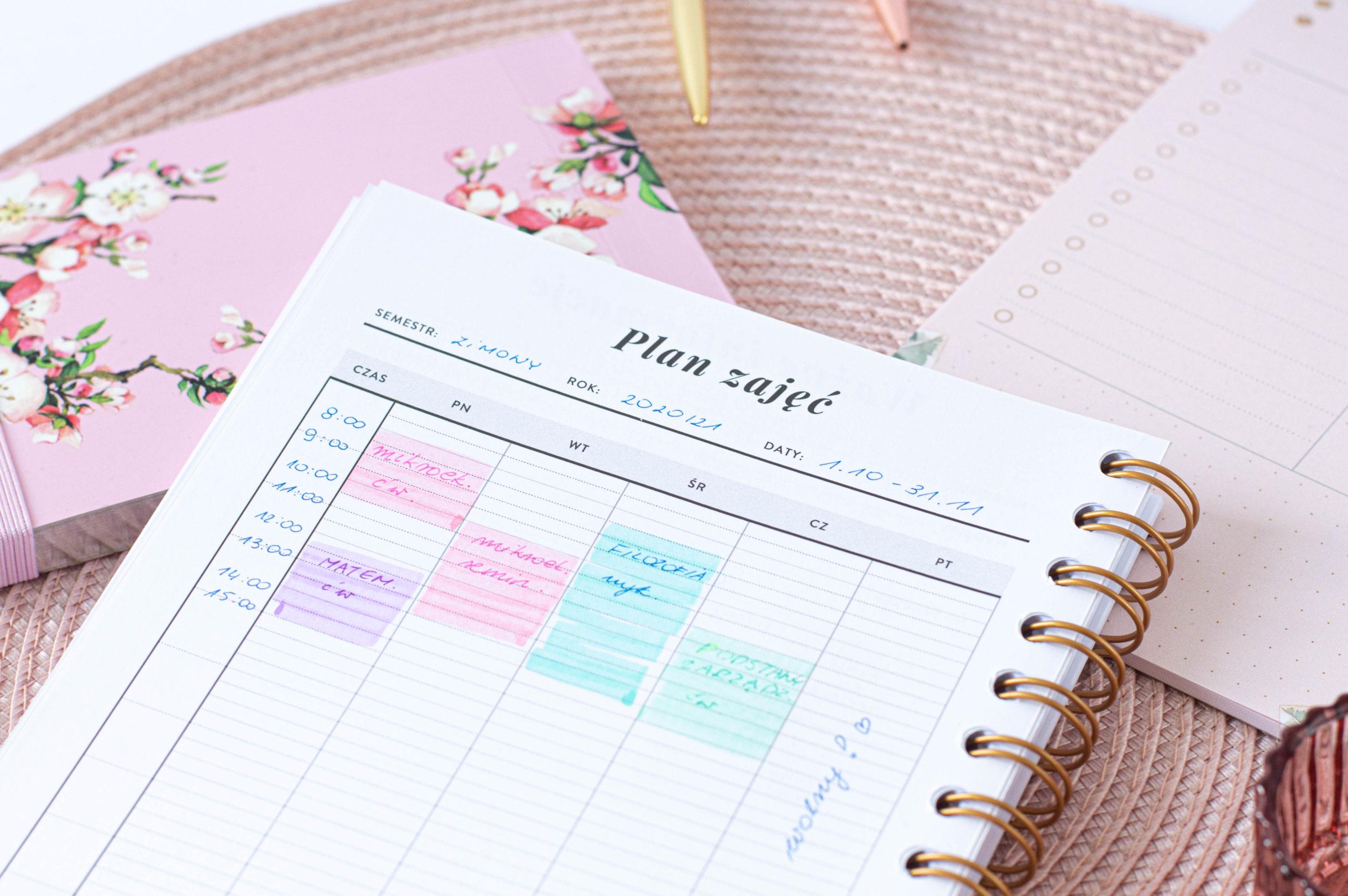 Plan zajęć, który możesz mieć zawsze pod reką