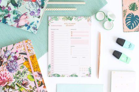 Planer Dzienny Kwiaty w Tropikach Notes A5