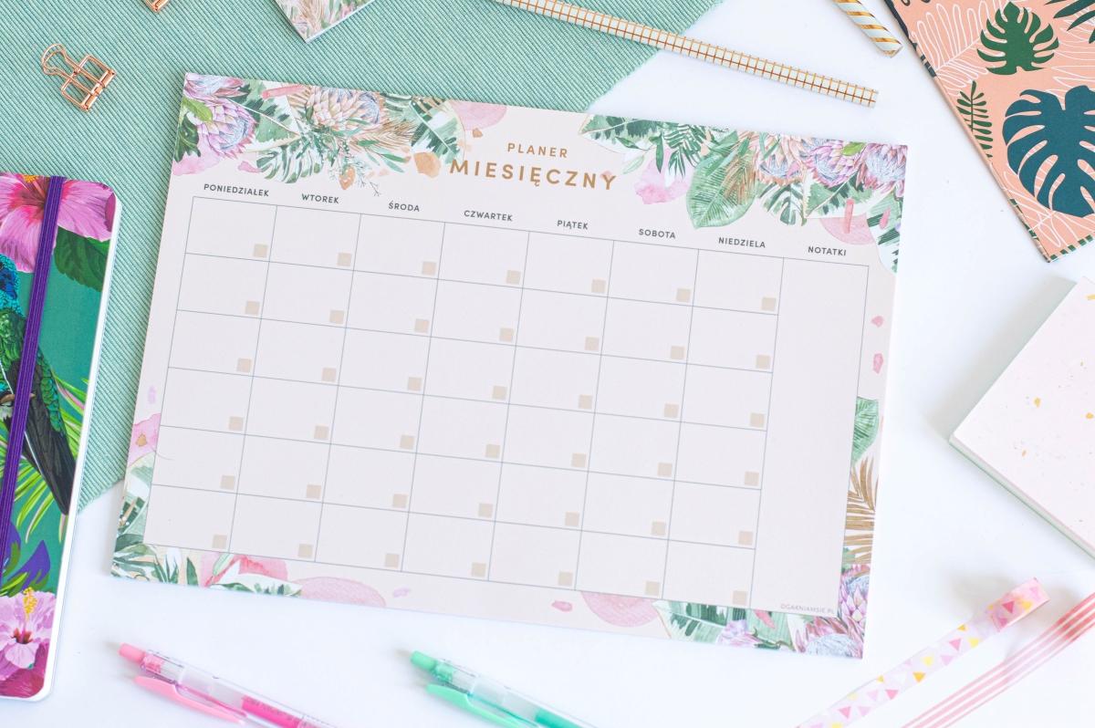 Planer Miesięczny Kwiaty w Tropikach Notes A4 - 5