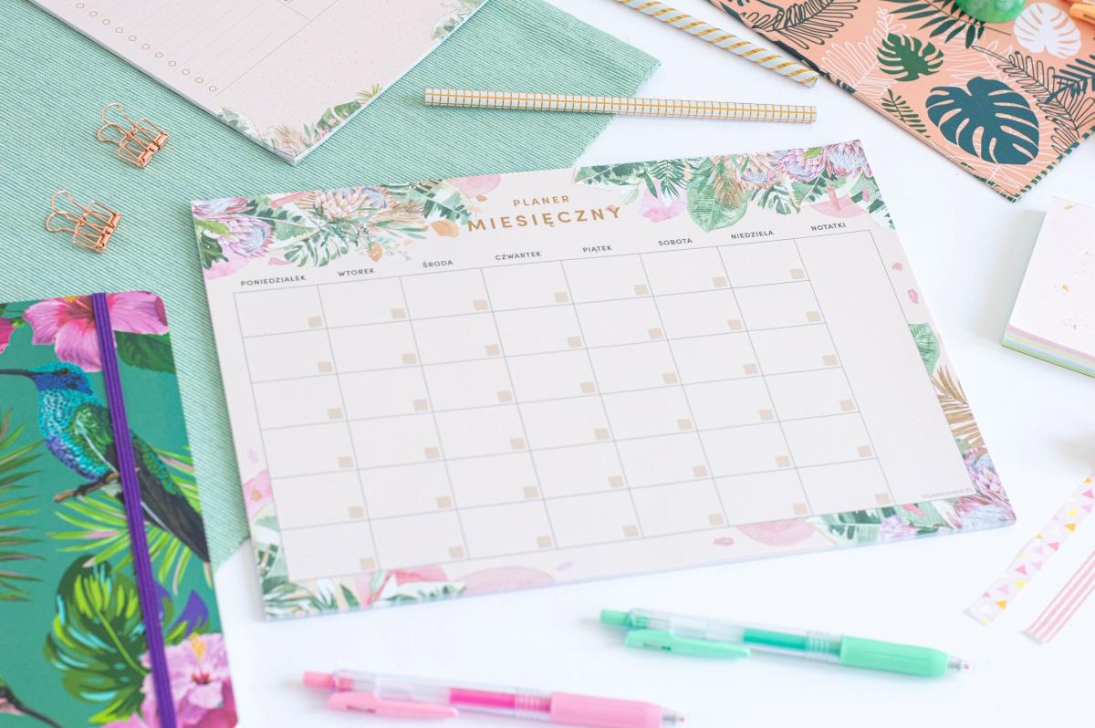 Planer Miesięczny Kwiaty w Tropikach Notes A4 - 4