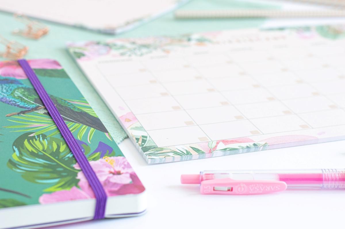 Planer Miesięczny Kwiaty w Tropikach Notes A4 - 3