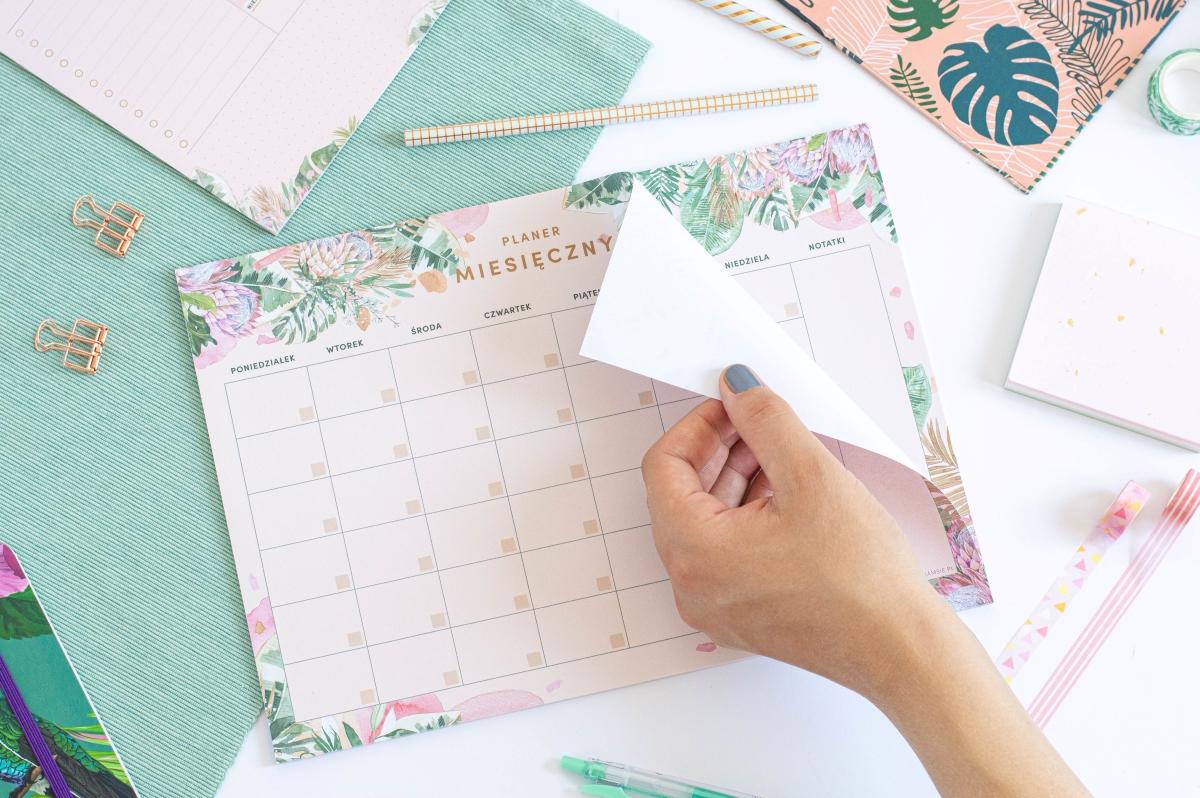 Planer Miesięczny Kwiaty w Tropikach Notes A4 - 2