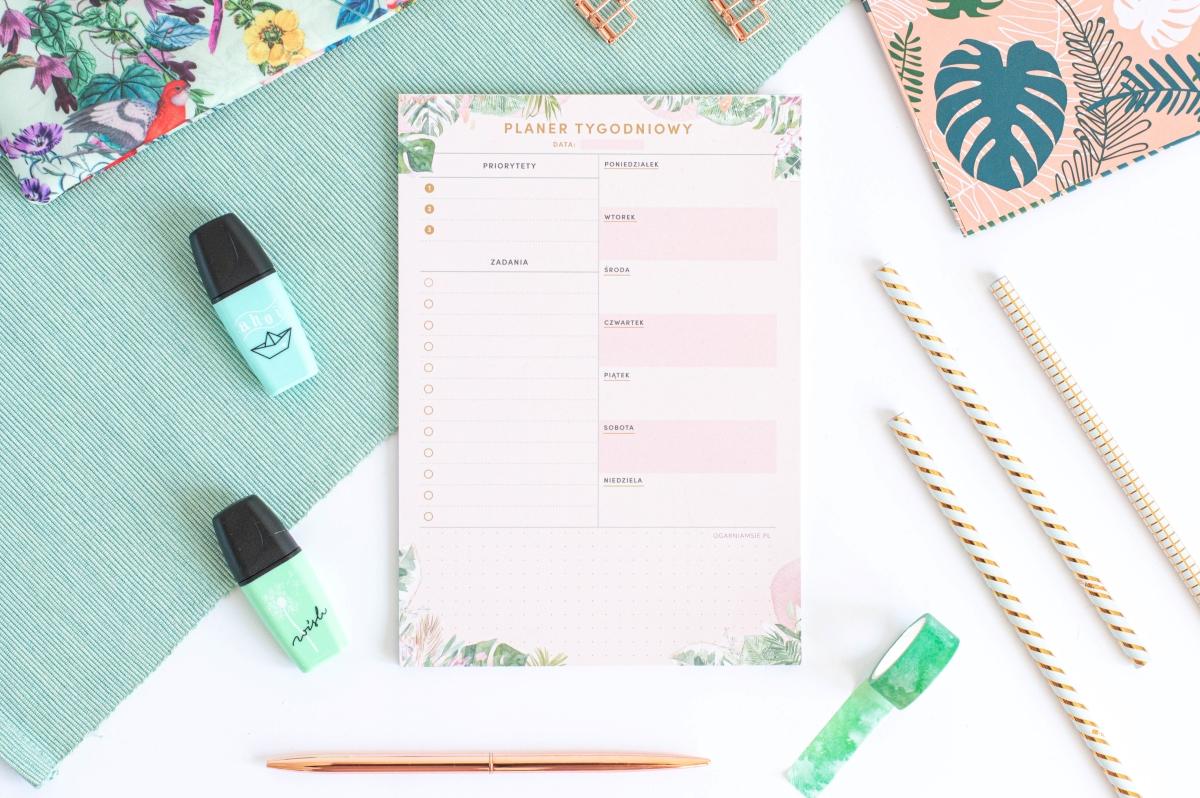 Planer Tygodniowy Kwiaty w Tropikach Notes A5 - 6