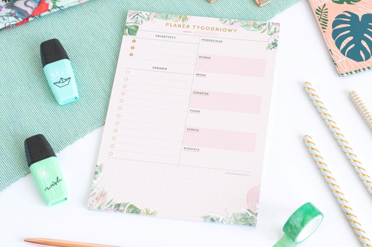 Planer Tygodniowy Kwiaty w Tropikach Notes A5 - 2