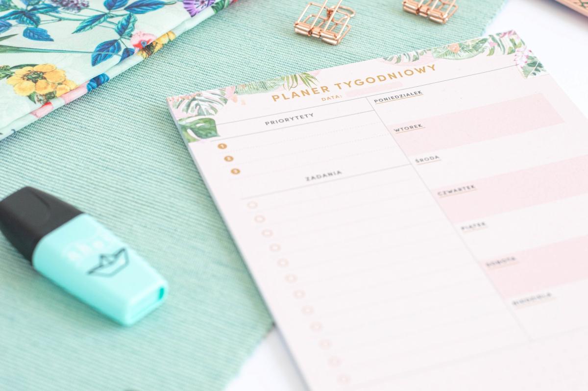 Planer Tygodniowy Kwiaty w Tropikach Notes A5 - 4