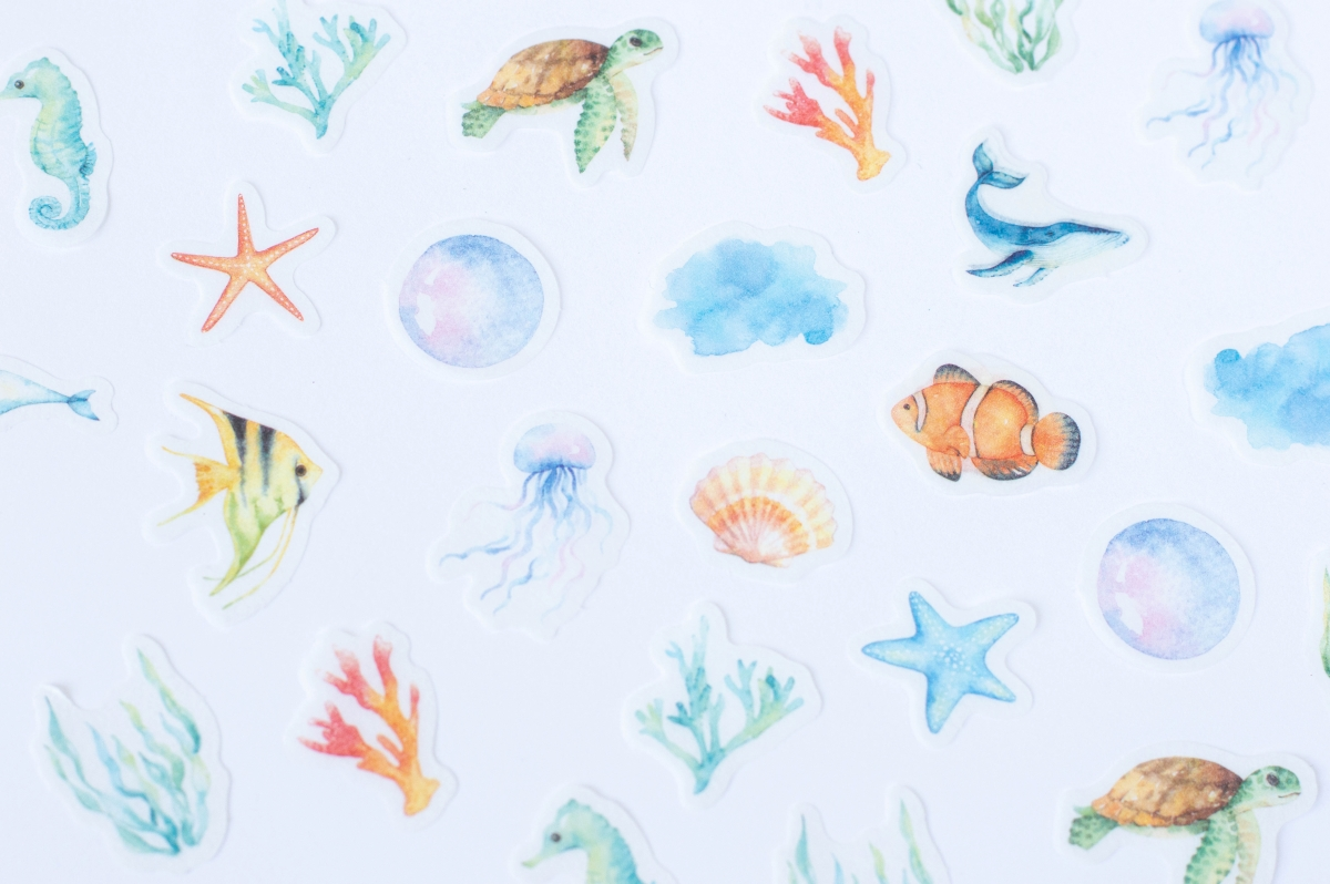 naklejki bullet journal rafa koralowa