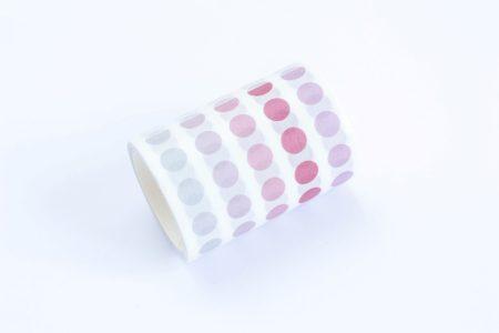 naklejki bullet journal rozowe kropeczki rolka