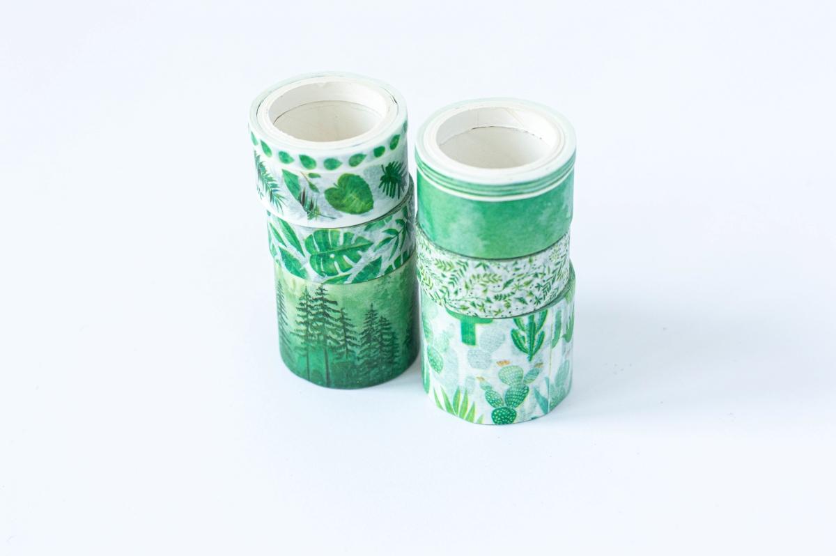 taśma dekoracyjna washi greenery 2