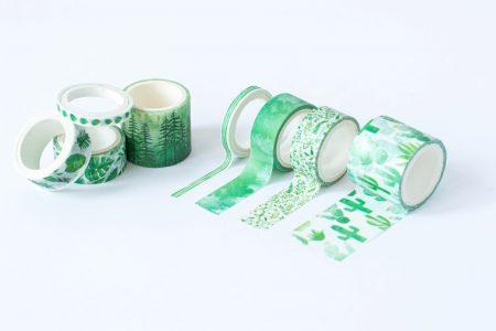 taśma dekoracyjna washi greenery 3