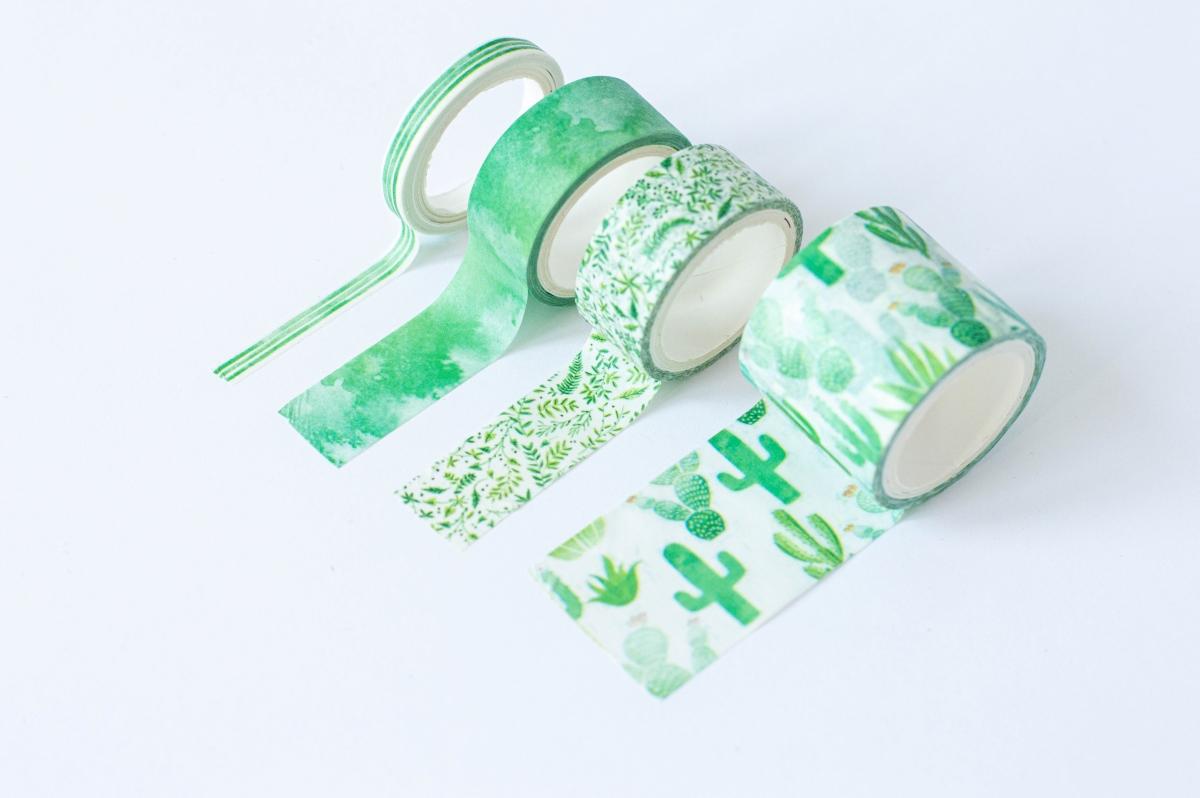 taśma dekoracyjna washi greenery 4
