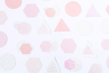 taśma dekoracyjna washi różowe kształty 2