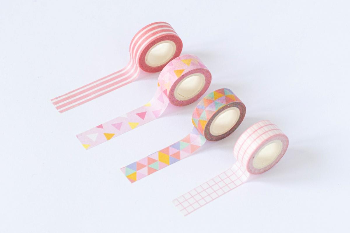 taśma dekoracyjna washi różowe wzory