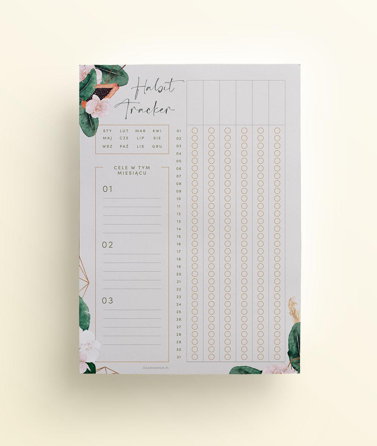 OgarniamSie-HabitTracker-TropikalneKwiaty-A4-do-druku-mockup