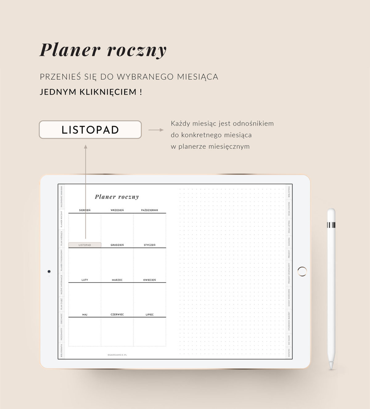 Digital Planner Studenta 2020-2021, cechy mockup 2