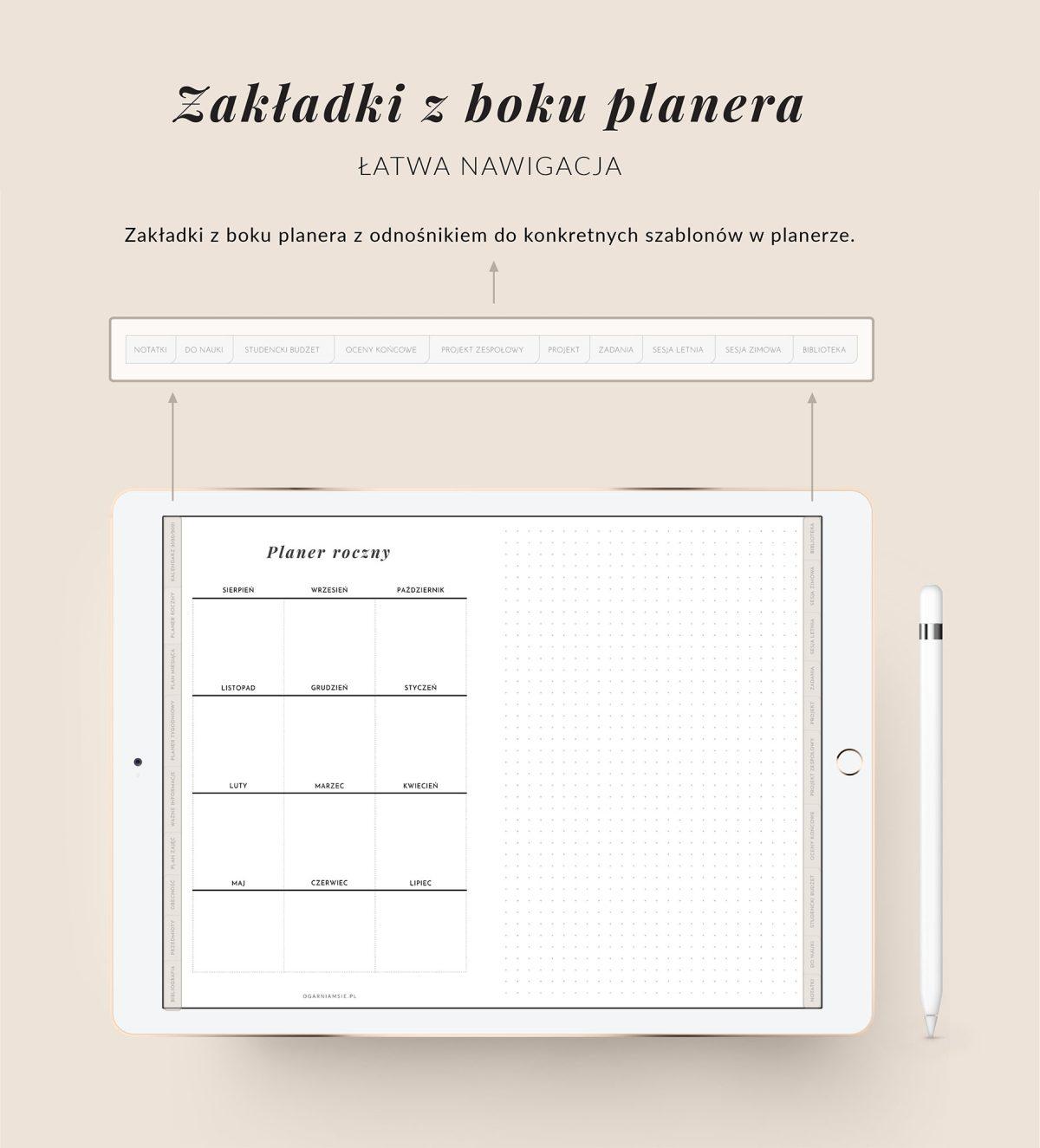 Digital Planner Studenta 2020-2021, cechy mockup 4