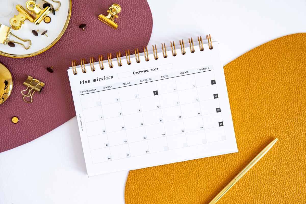Personalizowany Planer 2021 kalendarz miesięczny