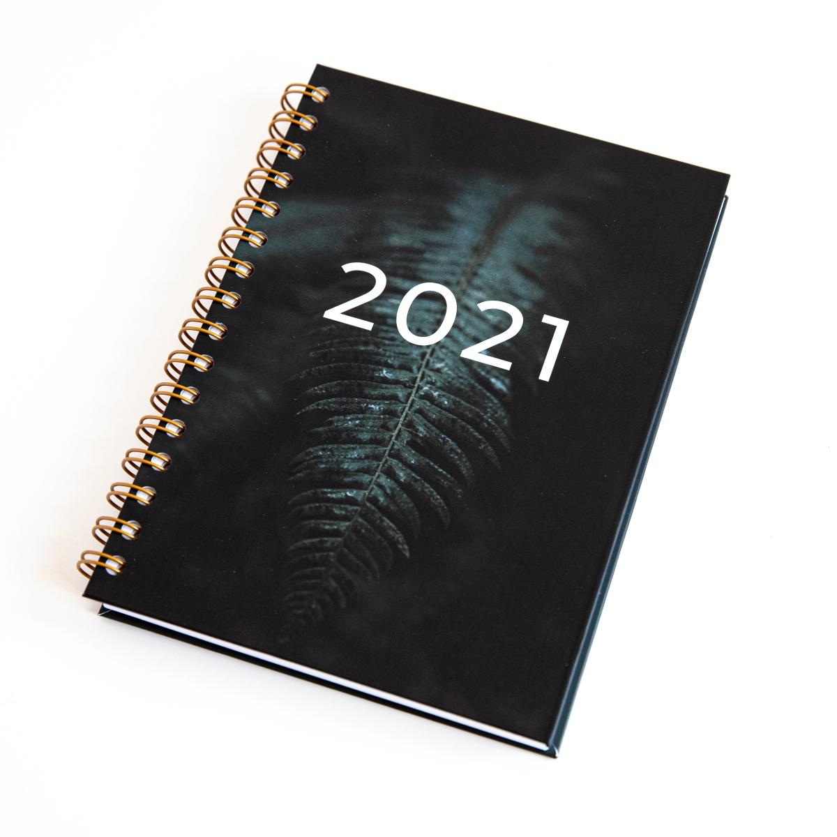 Personalizowany Planer 2021 okładka liść paproci