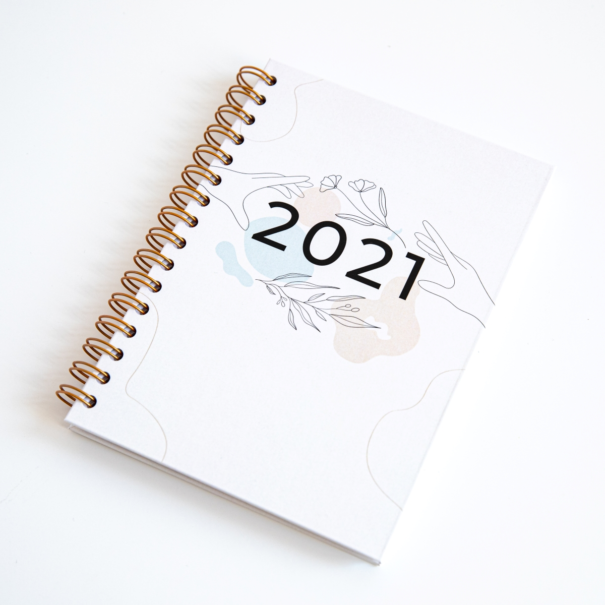 Personalizowany Planer 2021 okładka minimal