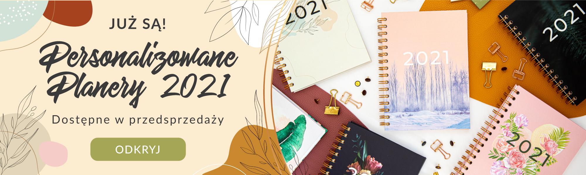 Personalizowany Planer 2021, przedsprzedaż baner