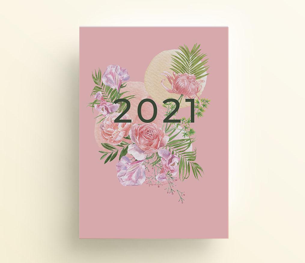 rajskie kwiaty, strona tytułowa do organizera