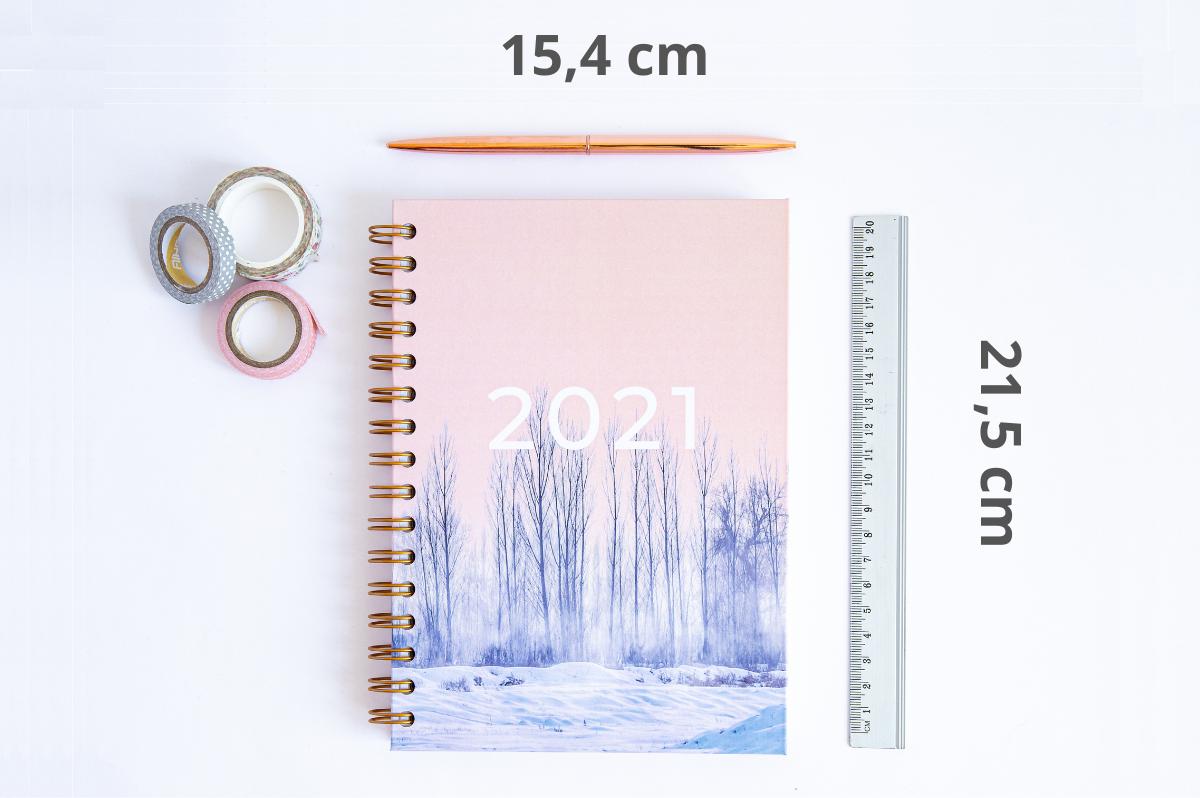 Personalizowany Planer 2021 rozmiar okładki