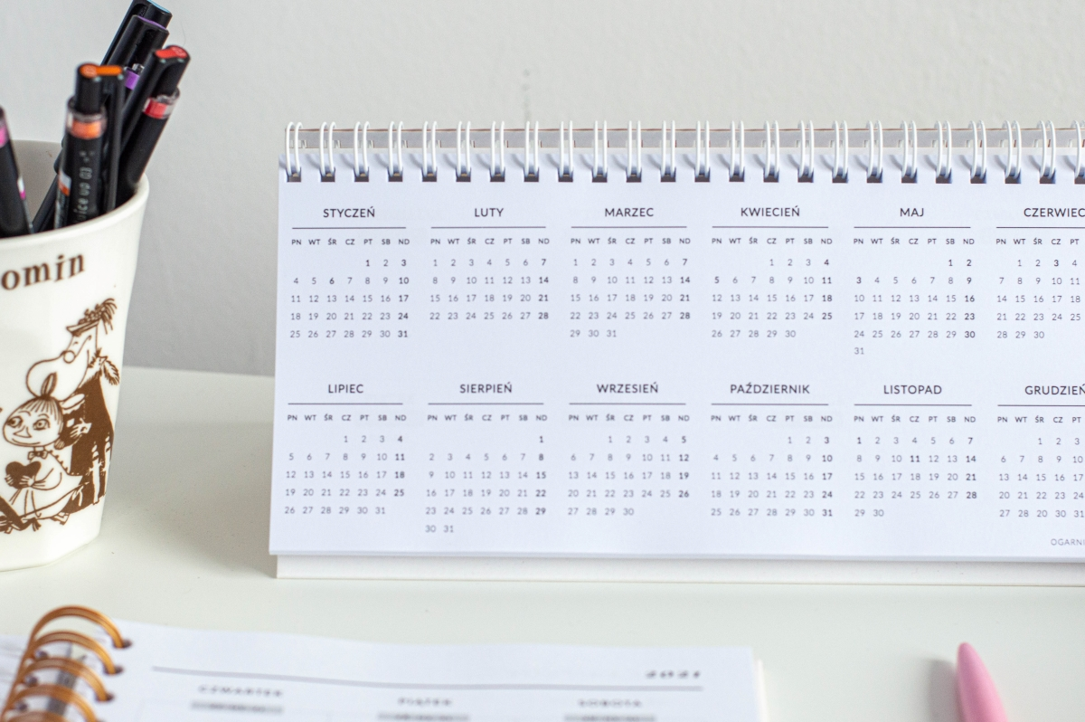 Make it happen kalendarz 2021 na biurko środek