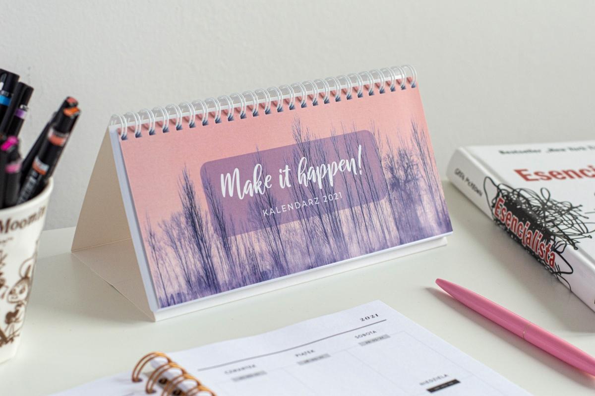 Make it happen kalendarz 2021 na biurko