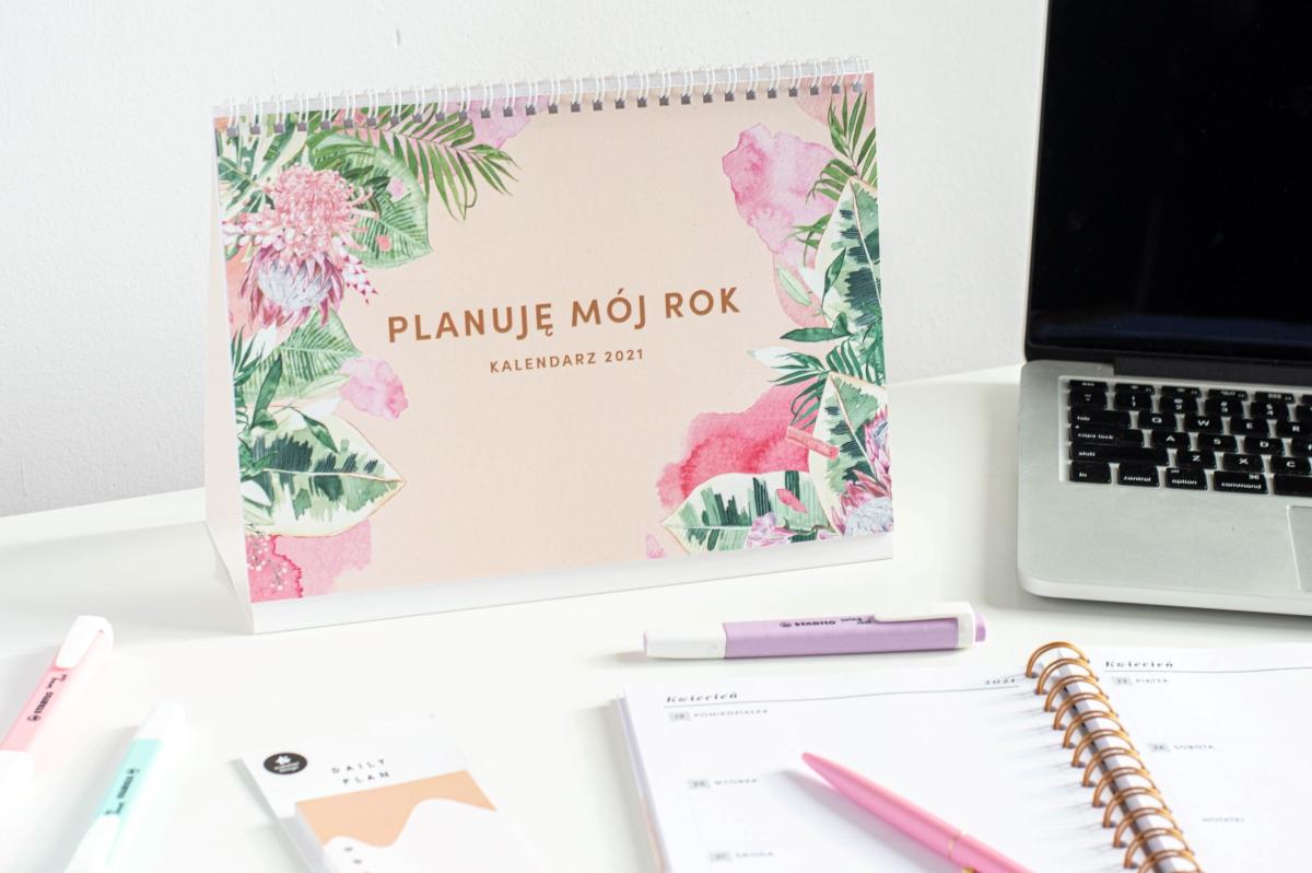 Planuję mój rok kalendarz 2021 na biurko