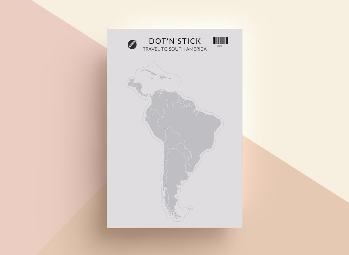 Travel to South America naklejki dot'n'stick mockup