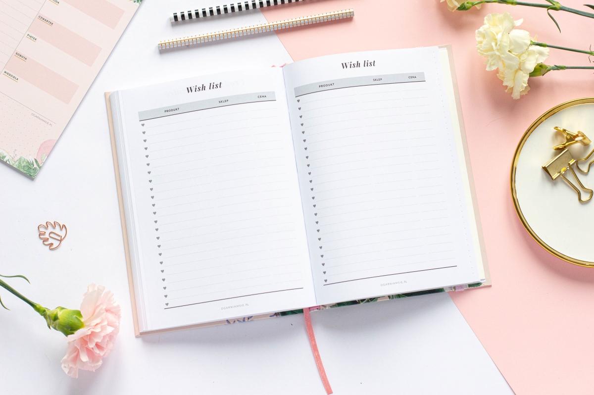 Wish list Planer Książkowy 2021