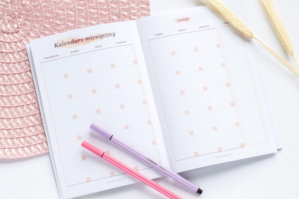 Mini planer miesięczny kalendarz miesięczny