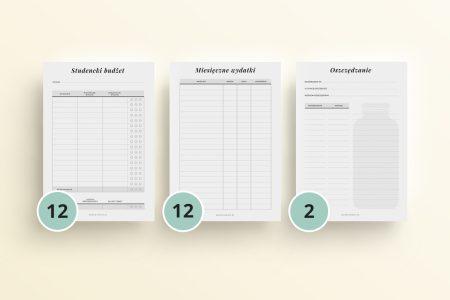 planer studenta budżet studencki mockup numerki