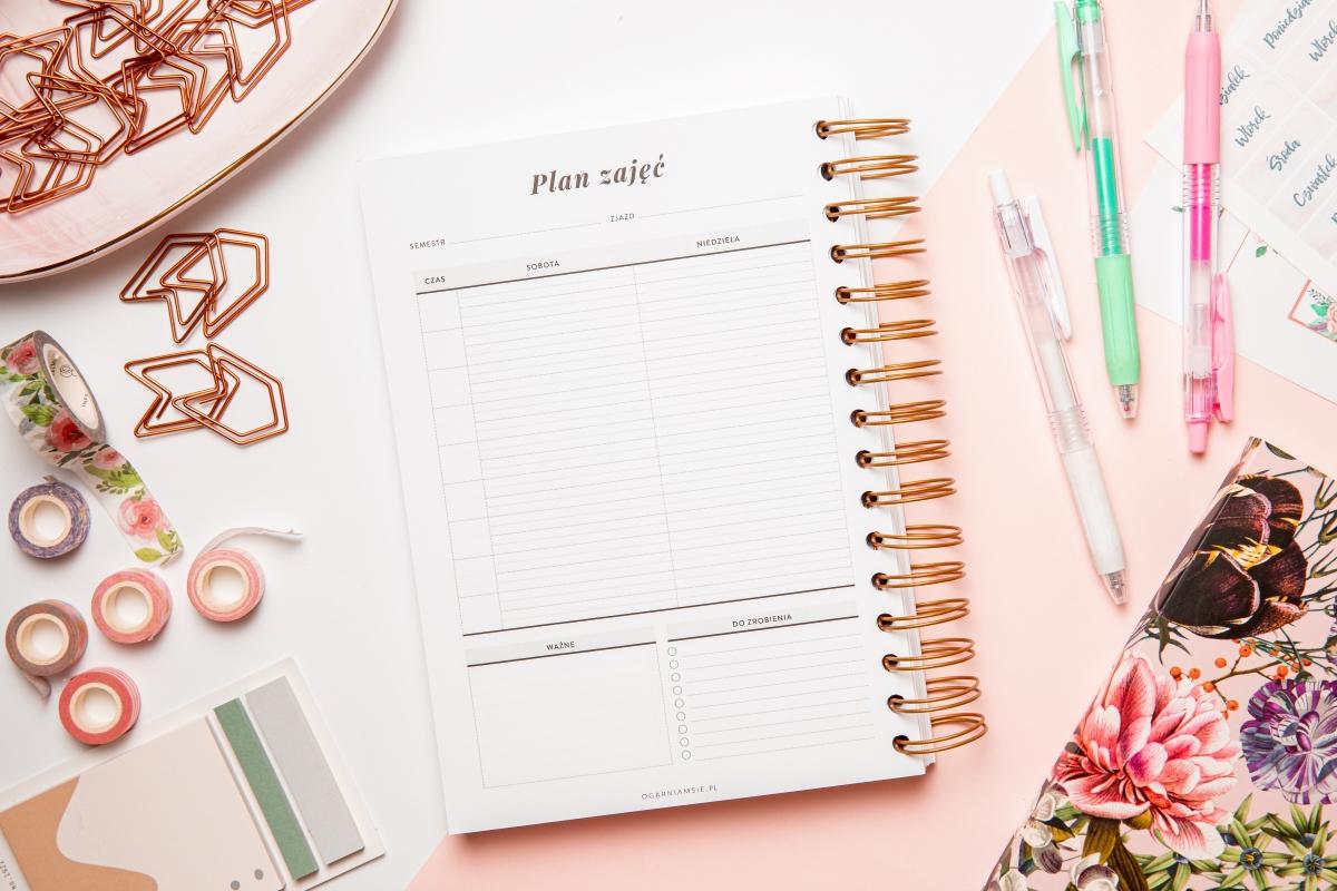 planer studenta zaocznego plan zajęć