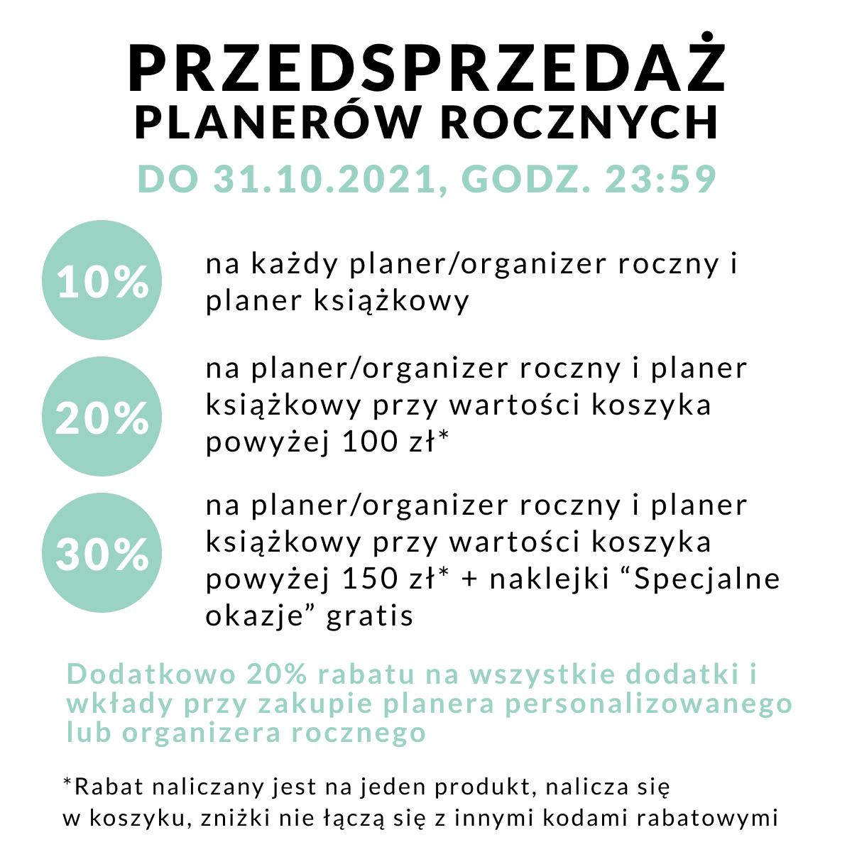 Warunki przedsprzedaży planerów OgarniamSię 2022