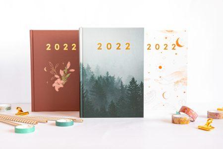 Planer książkowy 2022 wszystkie okładki stojące